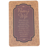 Dicksons, Pocket Card for Pastor's Wife, Brown, 2 1/2 x 4 inches