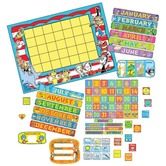 Eureka, Dr. Seuss  Calendar Bulletin Board Set, 122 pieces