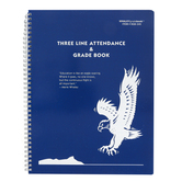 Whaley Gradebook, 3-Line Attendance and Grade Record Book, Three 10-Week Periods, 9GB-049, Spiral
