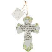 2 Timothy 1:7 For The Lord Has Not Given Mini Wall Cross, MDF, 5 3/4 x 3 3/4 inches