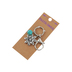 Kerusso, Faith Gear Flower Keyring, Metal and Turquoise, Silver, 2 1/2 x 1 1/4 inches