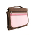 Zondervan, Designer Tri-Fold Bible Cover, Pink and Brown, Large