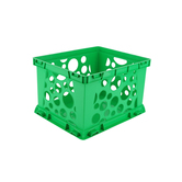 Storex, Premium File Storage Crate, Green, 17.25 x 14.25 x 10.50 Inches, 1 Piece
