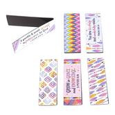 Salt & Light, Feather Pattern Magnetic Bookmarks, 6 Bookmarks