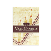Vigil Candles, White, 4 1/2 inches, 24 Candles