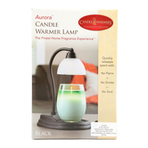 Candle Warmers, Aurora Candle Warmer Lamp, Black, 10 1/2 x 5 inches