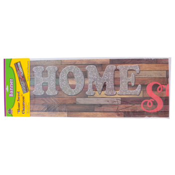 Teacher Created Resources, Home Sweet Classroom Banner, Shiplap, Multi-Colored, 39 x 8 Inches