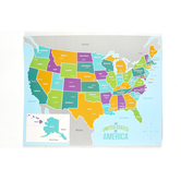 Renewing Minds, United States Map Chart, 17 x 22 Inches, Multi-Colored, 1 Each