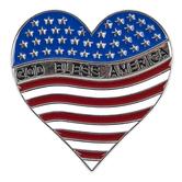Roman, Inc., God Bless America Visor Clip, Metal, Silver, 2 1/4 inches