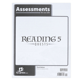 BJU Press, Reading 5 Assessments, 3rd Edition, Paperback, Grade 5