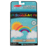 Melissa & Doug, On-the-Go Favorite Things Scratch Art Pad, 12 Pages, Spiral, Ages 5 and up