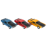 Master Toys and Novelties, Inc., 1970 Dodge Challenger Toy Car, Multiple Colors, 5 inches