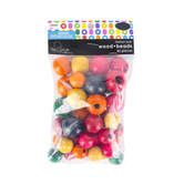 Tree House Studio, Round Fashion Wood Beads, Assorted Colors, 18mm-24mm, 45 Pieces