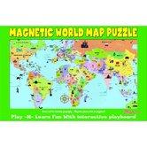 ATTA-Boy, Magnetic World Map Puzzle 16.75 x 11 Inches, Multi-Colored
