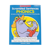 Scholastic, Scrambled Sentences Phonics Activity Book, Paperback, 48 Pages, Grades K-2