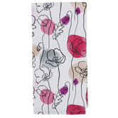 Kay Dee Designs, Think Pink Floral Tea Towel, Cotton, White and Pink, 26 x 16 inches