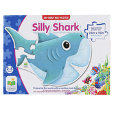 The Learning Journey, My First Big Floor Puzzle Silly Shark, 12 Pieces, 24 x 15 inches