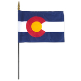 Annin Flagmakers, Colorado State Flag, Polyester, 8 x 12 inches