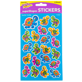 TREND enterprises Inc., Terrific Turtles superShapes Stickers, Assorted Colors, Pack of 168