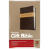 NLT Premium Gift Bible, Duo-Tone, Dark Brown and Tan