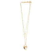 Set Free, Lock and Key Multilayer Necklace, Zinc Alloy, Gold, 16 and 20 inches