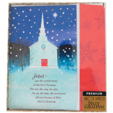 DaySpring, Billy Graham, Luke 2:10-11 Jesus Was the Central Theme Boxed Christmas Cards, 7 3/4 x 5 1/16 inches, 18 cards