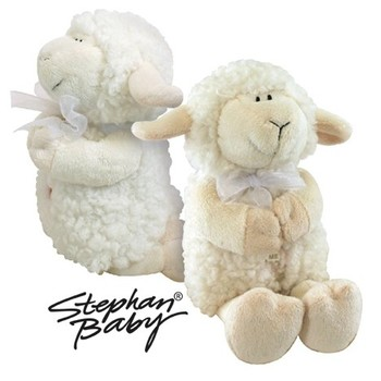 Musical Plush Toy, Praying Stuffed Lamb, by Stephan Baby, White, 10 inches
