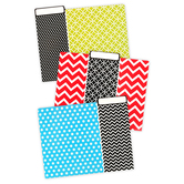 Isabella Collection, File Folders, Assorted Red, Blue and Green, 12 Count
