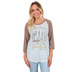 Southern Grace, Psalm 91:4 He Will Cover You, Women's 3/4 Raglan Sleeve T-shirt, Cream, Small