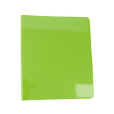 Bazic Products, Dual Pocket View Binder, Lime Green, 9 1/2 x 1/2 x 11 1/4 inches