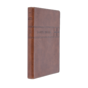 NTV Ultrathin Reference Spanish Bible, Large Print, Duo-Tone, Brown