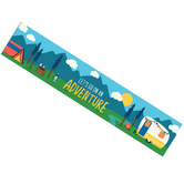 Wander Ridge Collection, Adventure Banner, Camping Theme, Multi-Colored, 5 Foot