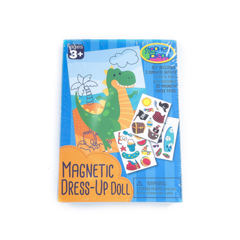 Stephen Joseph, Dino Magnetic Dress-Up Doll, 30 Pieces, Ages 3 and Older