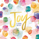 Renewing Faith, Faith & Fellowship 1 Chronicles 16:27 Napkins, Small, Watercolor Dots, 5 Inches, Pack of 50