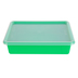 Storex, Letter Size Storage Tray With Clear Lid, Green, Plastic, 13 x 10.5 x 3 Inches, 2 Pieces