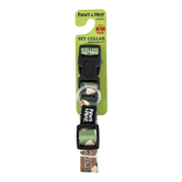 Kerusso, Paws and Pray, 2 Corinthians 5:7 Walk By Faith Pet Collar, Polyester Webbing, Camo, S/M to L/XL