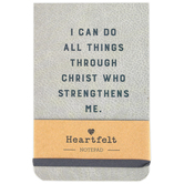 Christian Brands, Philippians 4:13 I Can Do All Things Notepad, Gray, 5 1/2 x 3 1/2 x 3/4 inches