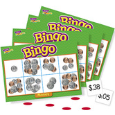 Trend, Money Bingo Game, Ages 5 Years and Older, 3 to 36 Players