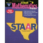 Newmark Learning, STAAR Mathematics Practice: Grade 5, 8.5 x 11 Inches, Paperback, 192 Pages