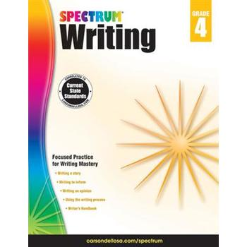 Carson-Dellosa, Spectrum Writing Workbook Grade 4, Paperback, 144 Pages, Ages 9-10