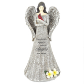 Carson Home Accents, Cardinals Appear When Angels Are Near Angel Figurine, Resin, 6 x 14 x 7 inches