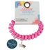 Glitter and Grace, Leave A Little Sparkle Wherever You Go Coil Bracelet, Pink