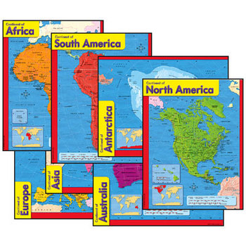 Continents Chart Pack Bulletin Board