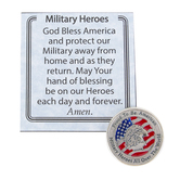 H.J. Sherman, Military Heroes Pocket Coin, Silver Oxidized, 1 1/4 inches