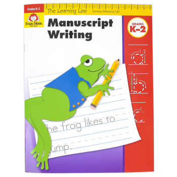Evan-Moor, Learning Line Activity Book: Manuscript Writing, 32 Pages, Grades K-2