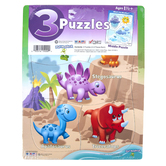 Play Monster, Junior Puzzle Pack, 9 x 11 1/2 inches Each, 1 Each of 3 Designs