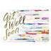 ThreeRoses, Watercolor Designs Get Well Boxed Cards, 12 Cards with Envelopes