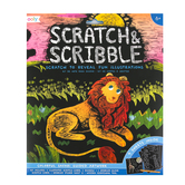 Ooly, Scratch & Scribble Art Kit, Colorful Safari, 5 3/4 x 8 1/4 Inches, 19 Pieces