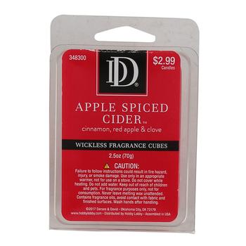 D&D, Apple Spiced Cider Scented Wax Melts, 6 Cubes, 2 1/2 ounces