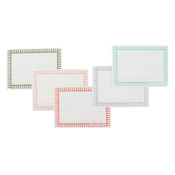 Farmhouse Lane Collection, Self-Adhesive Labels, Pinstripes, 3.5 x 2.5 Inches, Pack of   36